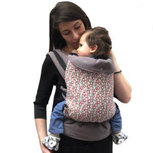 Porte-bébé physiologiqueBulles Grises