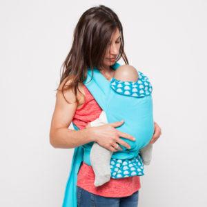 Porte-bébé Mei-Tai physio Baleines Bleues