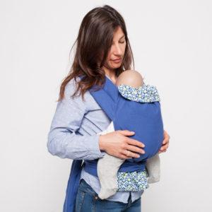 Porte-bébé Mei-Tai physio Bulles Bleues