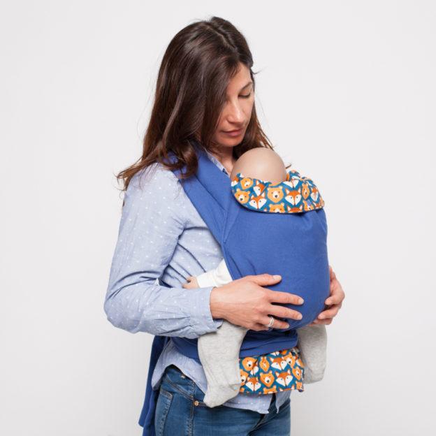 Porte-bébé Mei-Tai physio Ours et Renards Bleus