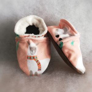 Chaussons Flamands Lama Rose