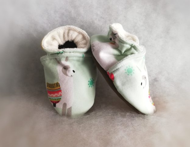 Chaussons bébé Lama Vert