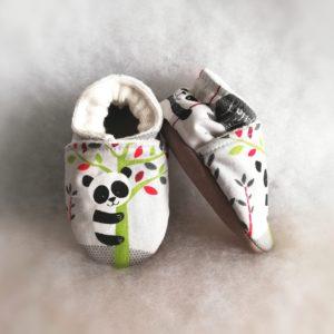 Chaussons Pandas gris