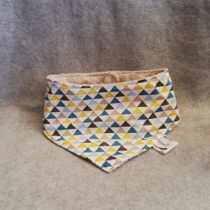 Bavoir bandana Triangles