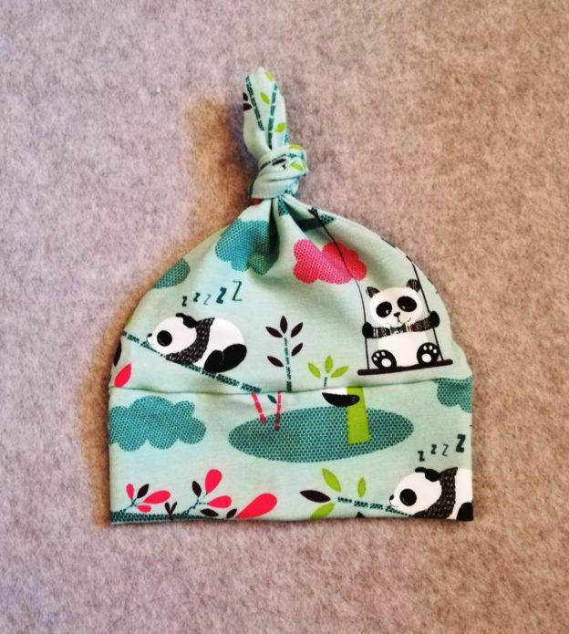 Bonnet bébé Pandas Verts