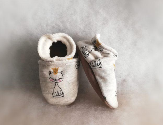 Chaussons bébé motifs Chats