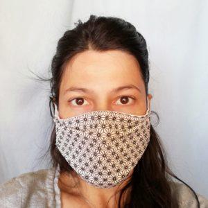 Masques de protection tissus oeko-tex Sakis noirs