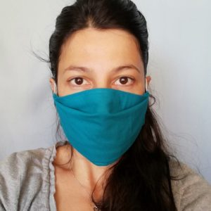 Masques de protection en tissus oeko-tex vert Maman a dit